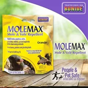 Bonide 692 Rebel 10lb Mole Max, Mole and Vole Repelent