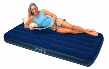 Intex Twin Size Classic Downy Air Bed Inflatable Mattress