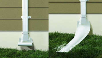 Frost King Drain Away White Automatic Downspout Extension (DE46WH)