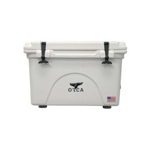 Orca Coolers ORCW040 Insulated 40 QT Quart White Ice Chest Cooler