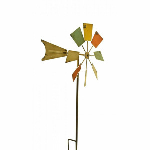 Alpine Corporation KIY102MC 52-Inch Multicolored Metal Windmill Stake