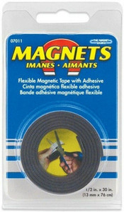 """Master Magnetic 07011 Roll of Flexible Magnetic Tape 1/2"""" x 30"""""""
