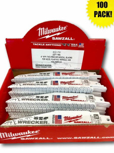 Milwaukee 48-01-7701 (100 Count) 6 in. 8 TPI The Wrecker Sawzall Blade