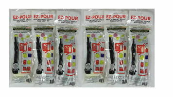 Lot of 6 EZ Pour 10050 Replacement Spout Replace Old Gas Can Fill Kit Fuel Jug