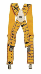 CLC Custom LeatherCraft 110RUL Yellow Tape Rule Heavy Duty Suspenders