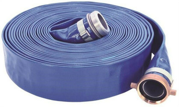 UDP 1147-2000-50 Lay-Flat Discharge Hose Assembly, 2 In, 50 Ft, Threaded Male X Female Coupling, 80 Psi