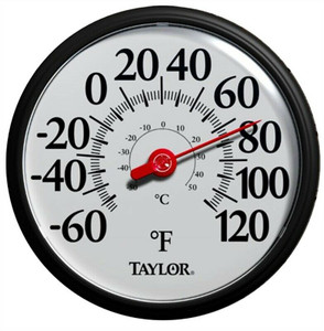 Taylor 6700 Weather Resistant Shatterproof Dial Thermometer, Black Or Green