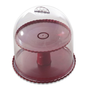"""Nordic Ware 50005 10.5"""" Tall 2 Level Dessert Stand w/ Dome Cover - Color May Vary"""
