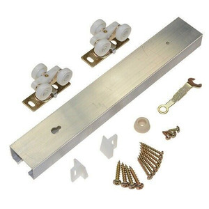 "LE Johnson Aluminum 72"" Track - 1 Pocket Door Hardware Kit"