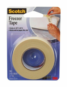 "Scotch 178 Freezer Tape 3/4"" x 1000 Inches Microwave Safe Labeling"