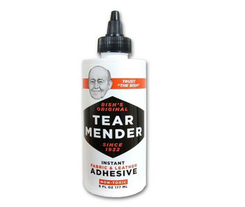 Tear Mender 6oz Fabric & Leather Adhesive - Dries Waterproof (TG-6H)