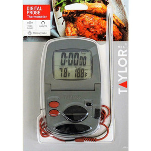 Taylor 1470N Digital Cooking Thermometer w/ Probe & Timer