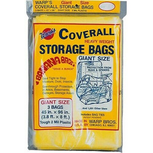 "Warp Brothers 3 Warps Coverall Storage Bags Giant 45"" x 96"""