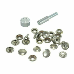 General Tools 1265 Nickel Plated Brass Snap Fastener Tool Kit Grommet W/ fasteners