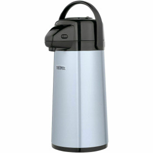 Thermos PP1920TRI2 - 2 Quart (64oz) Stainless Steel Pump Pot Beverage Dispenser