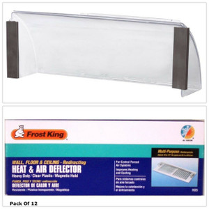 """Frost King HD5 (12 Count) 10"""" To 14"""" Economy Heat & Air Deflector"""