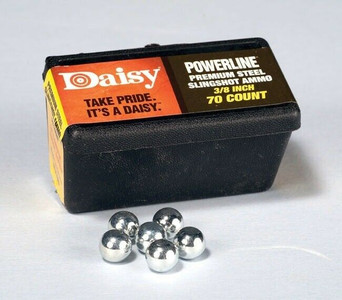 """Daisy 8183 Pack of 70 Count Steel 3/8"""" Slingshot Ammo"""