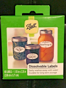 Ball 10734 Pack of 60 Dissolvable Food Canning Jar Labels
