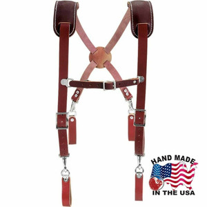 Occidental Leather 5009 Leather Suspenders Heavy Duty w/ Shoulder Pad