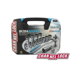 Channellock 39100  16 Piece Ultra Access Socket & Ratcheting Set