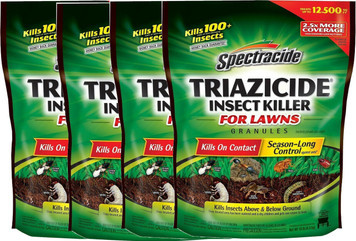 Lot Of 4 Spectracide 53944 10 Lb. Triazicide Insect Killer