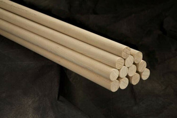 "Pack of 12 Round Hardwood Dowel Rods 1"" Dia x 36"" Long 7316U"