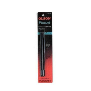 "Olson 41101 5"" Pin End Scroll Saw Blades 15 TPI General Purpose - 6 Blade Pack"