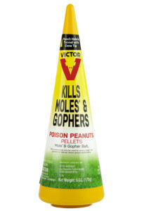 Victor 6006 Lot Case of 12 6oz Mole and Gopher Poison Peanuts