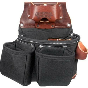 Occidental Leather B8018DB Black 3 Pouch Tool Bag With Tape Holder