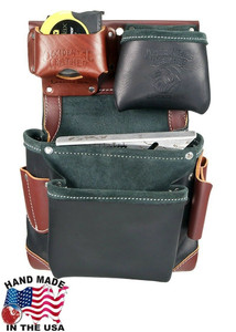 Occidental Leather  Green Building All Leather Fastener Bag in Black