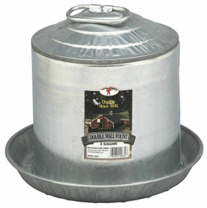 Little Giant 9832 Galvanized 2 Gallon Double Wall Fount
