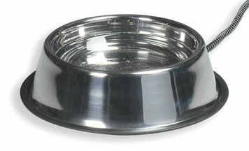 Allied Precision API SB50 Stainless Steel 5 Qt. Heated Pet Bowl