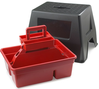 Little Giant DTSSRED DuraTote Stool and Tote Box
