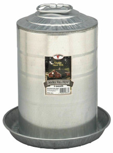 Little Giant 9833 Galvanized 3 Gallon Double Wall Fount