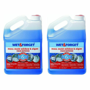 (Pack Of 2) Wet & Forget 800006 1 Gallon Moss Mold Mildew & Algae Stain Remover