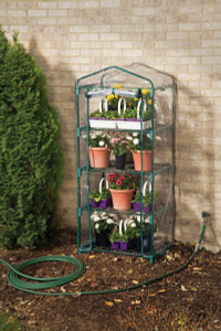 "Taylor GH2 Tower Greenhouse 62 x 27 x 19"" w/Thermometer and Hygrometer"