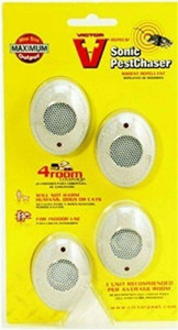 Victor M754SN Ultrasonic Rodent Repeller Pest Chaser Pack of 4