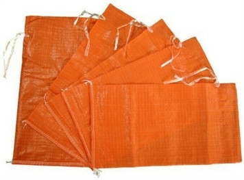"Mutual 14981-45-14  Lot of 100 14"" x 26"" Orange Sandbags 50lb Capacity"