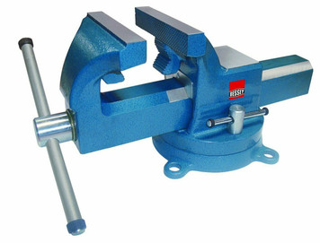 """Bessey BV-DF8SB Swivel Base Bench Vise 8"""" Heavy Duty Bench Vise With Pipe Jaws"""