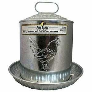 Harris Farms 1000263 Double Wall 2 Gallon Poultry Drinker