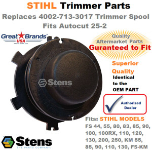 Stens Spool Insert for Trimmer Head Stihl 4002-713-3017 Autocut 25-2