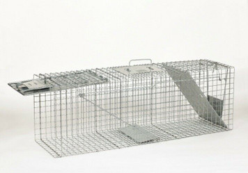 "Havahart 1045 36"" x 10"" x 12"" Live Animal Two-Door Galvanized Steel Large Trap"