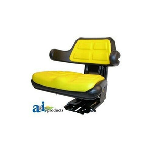 Universal Yellow Tractor Seat With Suspension And Adjustable Angle