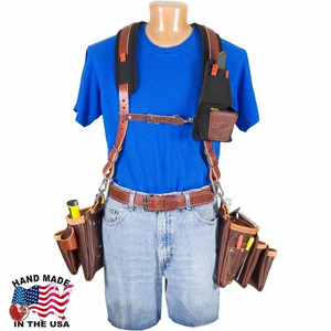 Occidental Leather  Beltless 6 Bag Framer Suspender w/ 25 Pockets