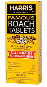 Harris HRT6 Roach Killer Tablets 100 Tablets w/ Boric Acid & Lure