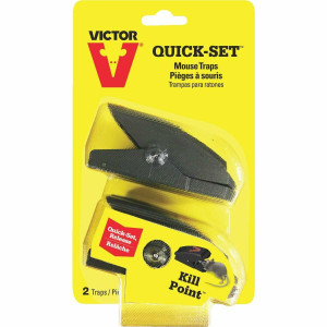 Victor M137 Pack of 6 Quick & Easy Set Safe Mouse Traps