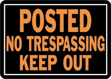 HY-KO 813 Pack of 12 Posted Private Property No Trespassing Keep Out Signs