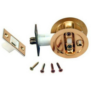 LE Johnson 15213PK1 Bright Brass Finish Pocket Door Privacy Lock