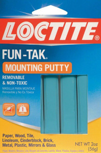 Loctite Fun-Tak Reusable Removable Non-Toxic Mounting Putty Adhesive