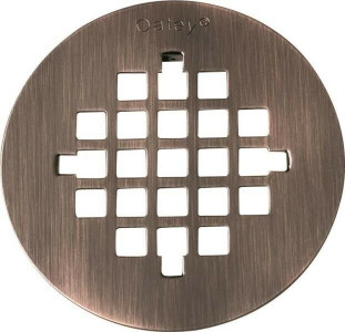 "Oatey 42017 Oil Rubbed Bronze Finish 4-1/4"" Shower Drain Cover"